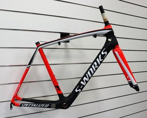 Specialized Tarmac Frmset Carb/Rktred/Wht 58