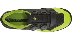 tretry 2FO ClipLite MTB Black/Monster Green BLK/MONGRN