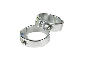 GRIP LOCKING RING 1 pair Silver Solid