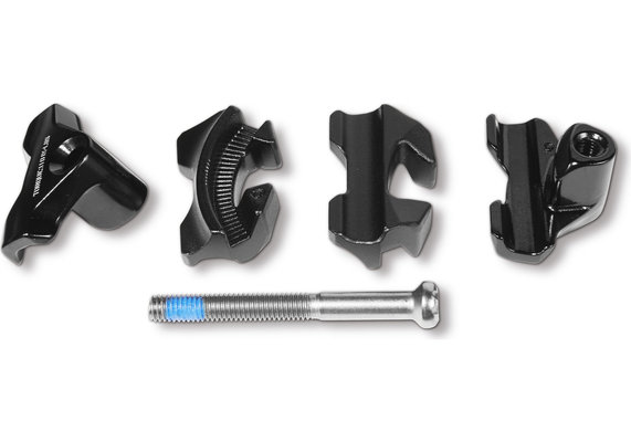 Alien Head Compatible Carbon Rail Saddle Adapter Black