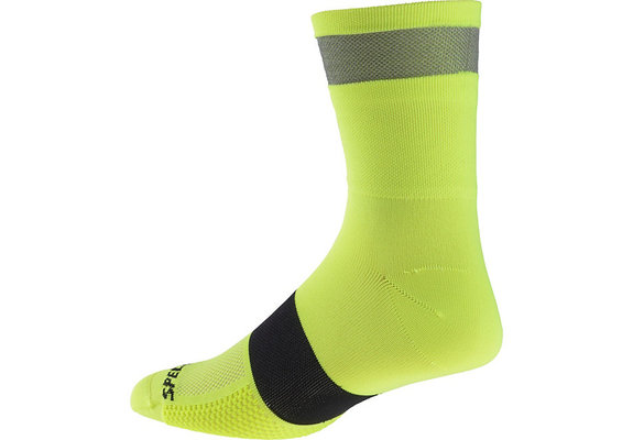 Reflect Tall Socks Neon Yellow